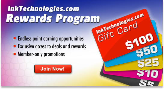Join Ink Technologies Rewards Program and save on your order!