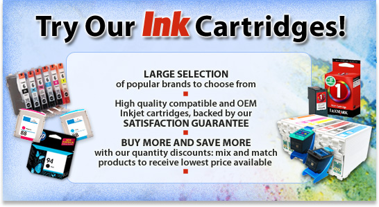 Try our huge selection of compatible, remanufactured, and name-brand ink cartrdiges!