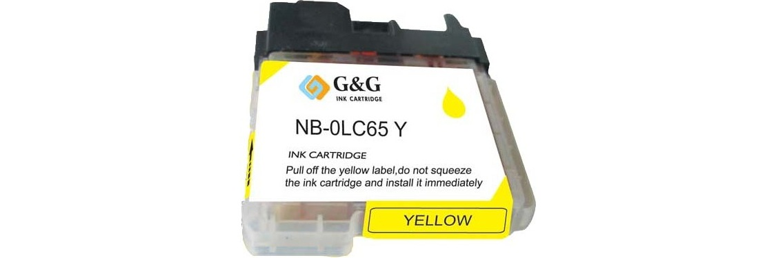 LC65Y Ink Cartridge - Brother New Compatible  (Yellow)