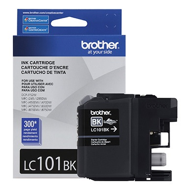 LC101BK Ink Cartridge - Brother Genuine OEM (Black)