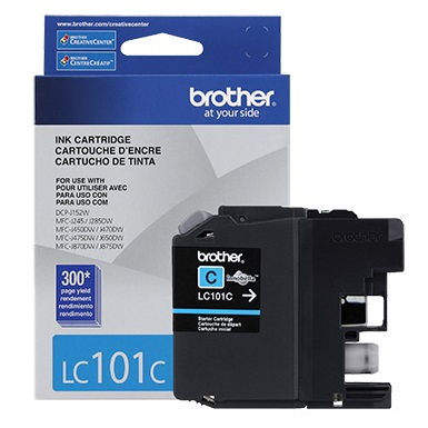 LC101C Ink Cartridge - Brother Genuine OEM (Cyan)
