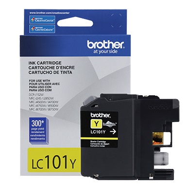 LC101Y Ink Cartridge - Brother Genuine OEM (Yellow)