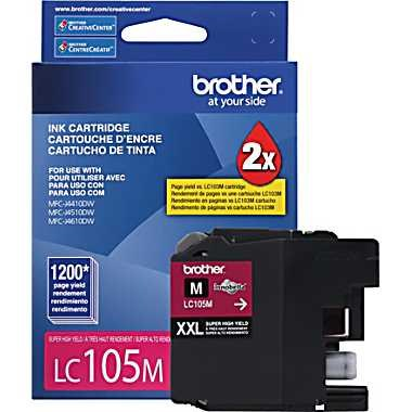 LC105M Ink Cartridge - Brother Genuine OEM (Magenta)