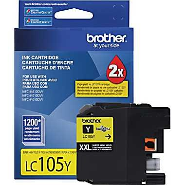 LC105Y Ink Cartridge - Brother Genuine OEM (Yellow)