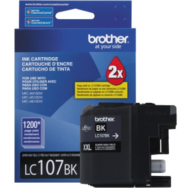 LC107BK Ink Cartridge - Brother Genuine OEM (Black)
