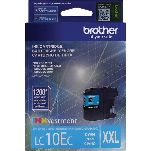 LC10EC Ink Cartridge - Brother Genuine OEM (Cyan)