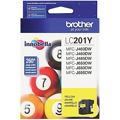 LC201Y Ink Cartridge - Brother Genuine OEM (Yellow)