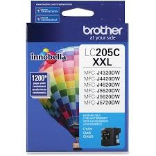 LC205C Ink Cartridge - Brother Genuine OEM (Cyan)