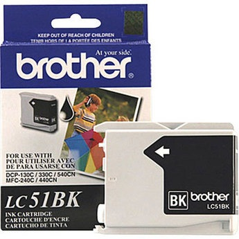 LC51BK Ink Cartridge - Brother Genuine OEM (Black)