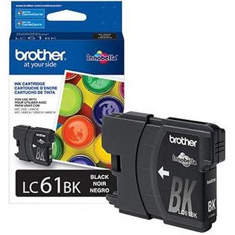 LC61BK Ink Cartridge - Brother Genuine OEM (Black)