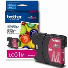 LC61M Ink Cartridge - Brother Genuine OEM (Magenta)
