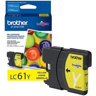 LC61Y Ink Cartridge - Brother Genuine OEM (Yellow)