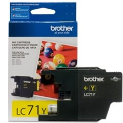 LC71Y Ink Cartridge - Brother Genuine OEM (Yellow)