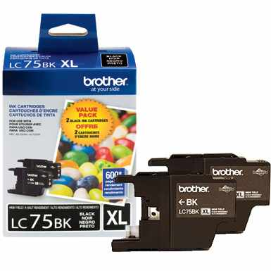 LC752PKS Ink Cartridges - Brother Genuine OEM (Black)