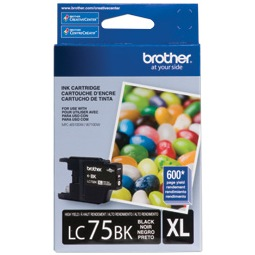 LC75BK Ink Cartridge - Brother Genuine OEM (Black)