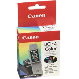 BCI-21C Ink Cartridge - Canon Genuine OEM (Color)