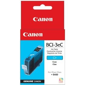 BCI-3eC Ink Cartridge - Canon Genuine OEM (Cyan)