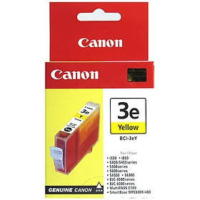 BCI-3eY Ink Cartridge - Canon Genuine OEM (Yellow)