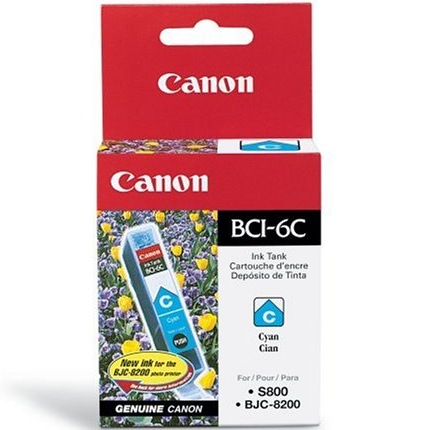 BCI-6C Ink Cartridge - Canon Genuine OEM (Cyan)