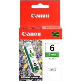BCI-6G Ink Cartridge - Canon Genuine OEM (Green)