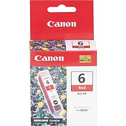 BCI-6R Ink Cartridge - Canon Genuine OEM (Red)
