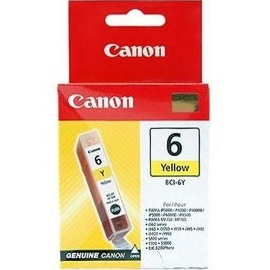 BCI-6Y Ink Cartridge - Canon Genuine OEM (Yellow)