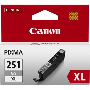 CLI-251GY XL Ink Cartridge - Canon Genuine OEM (Gray)