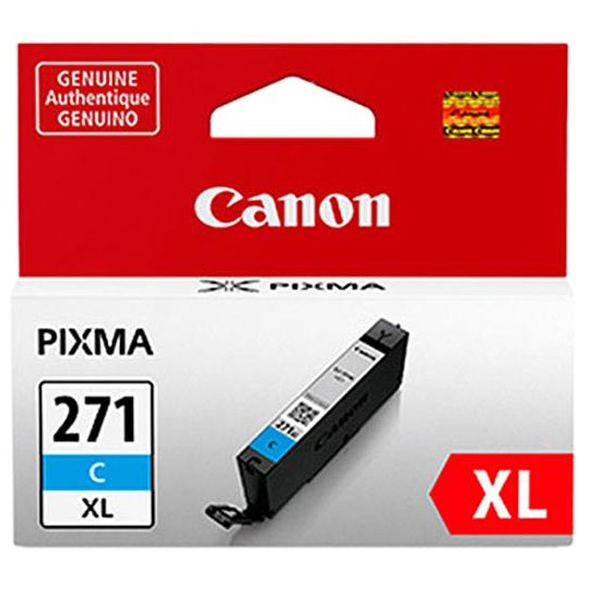 CLI-271XL C Ink Cartridge - Canon Genuine OEM (Cyan)