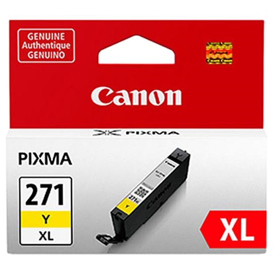 CLI-271XL Y Ink Cartridge - Canon Genuine OEM (Yellow)