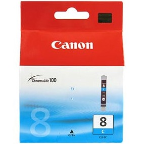 CLI-8C Ink Cartridge - Canon Genuine OEM (Cyan)