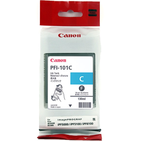 PFI-101C Ink Cartridge - Canon Genuine OEM (Cyan)