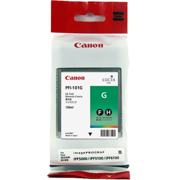PFI-101Green Ink Cartridge - Canon Genuine OEM (Green)