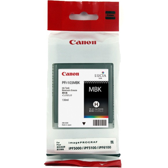 PFI-101MBk Ink Cartridge - Canon Genuine OEM (Matte Black)