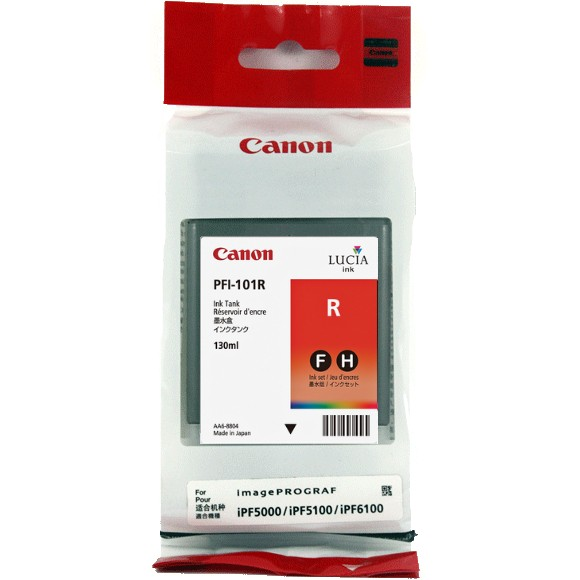 PFI-101Red Ink Cartridge - Canon Genuine OEM (Red)