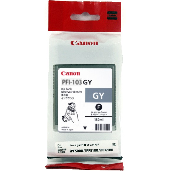 PFI-103GY Ink Cartridge - Canon Genuine OEM (Gray)