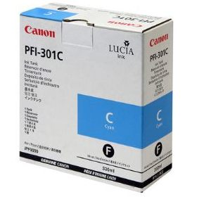 PFI-301C Ink Cartridge - Canon Genuine OEM (Cyan)