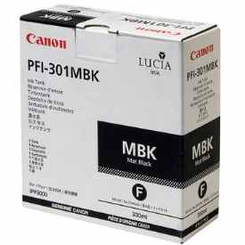 PFI-301MBK Ink Cartridge - Canon Genuine OEM (Matte Black)