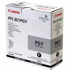 PFI-301PGY Ink Cartridge - Canon Genuine OEM (Photo Gray)