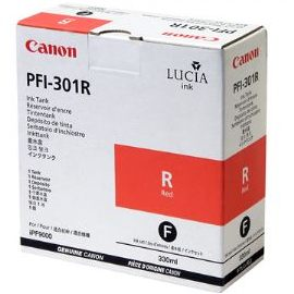 PFI-301R Ink Cartridge - Canon Genuine OEM (Red)