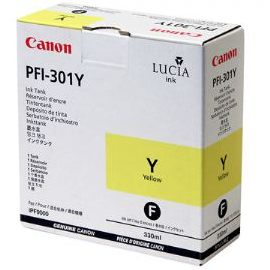 PFI-301Y Ink Cartridge - Canon Genuine OEM (Yellow)