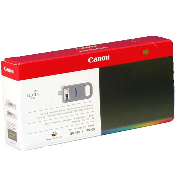 PFI-701BK Ink Cartridge - Canon Genuine OEM (Black)
