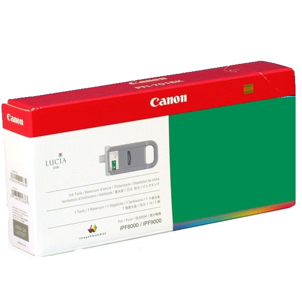PFI-701G Ink Cartridge - Canon Genuine OEM (Green)