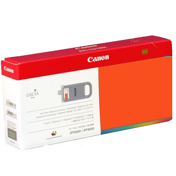 PFI-701R Ink Cartridge - Canon Genuine OEM (Red)