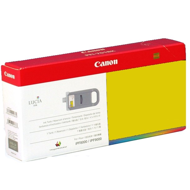 PFI-701Y Ink Cartridge - Canon Genuine OEM (Yellow)