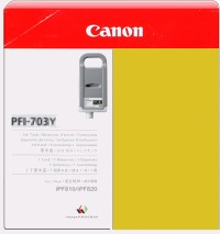 PFI-703Y Ink Cartridge - Canon Genuine OEM (Yellow)