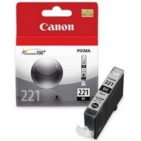 CLI-221BK Ink Cartridge - Canon Genuine OEM (Black)
