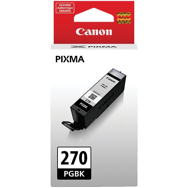 PGI-270 BK Ink Cartridge - Canon Genuine OEM (Black)