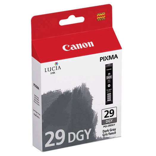 PGI-29DGY Ink Cartridge - Canon Genuine OEM (Dark Gray)