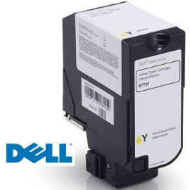 593-BBXW Toner Cartridge - Dell Genuine OEM (Yellow)
