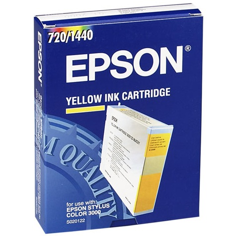 S020122 Ink Cartridge - Epson Genuine OEM (Yellow)